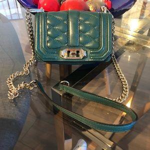 Small green Rebecca Minkoff love bag